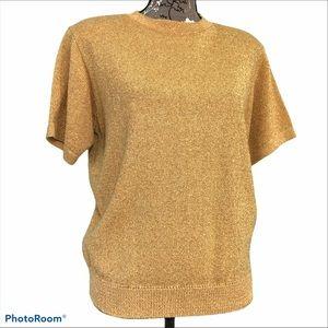Vintage Alfred Dunner Short Sleeve Sparkle Sweater